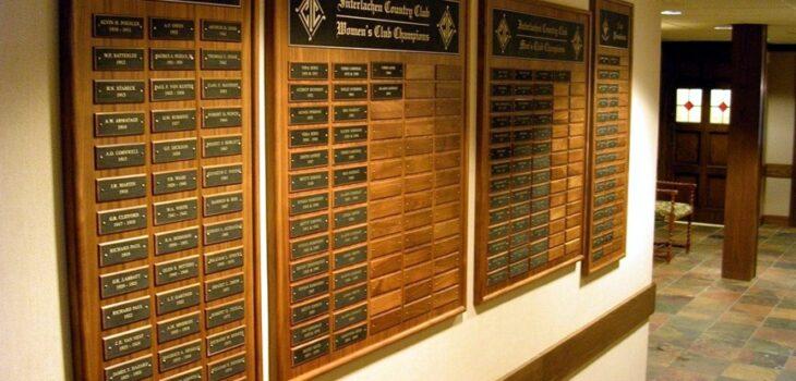 Club Championship Plaque
